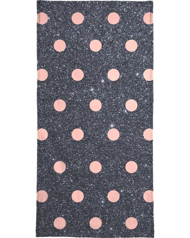 Geburtstage, Pink Polka Dots on Shiny Background -Handtuch