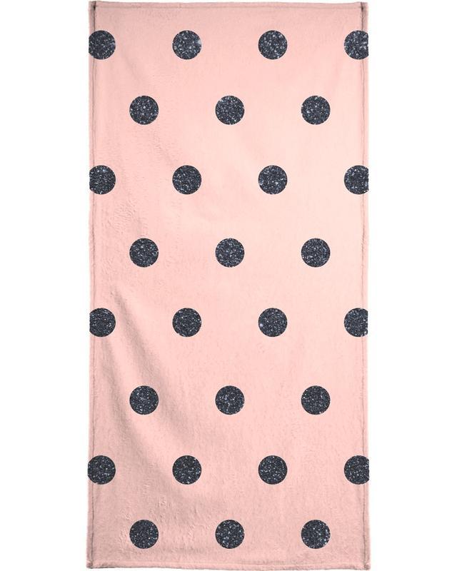 , Shiny Polk Dots On Pink -Handtuch