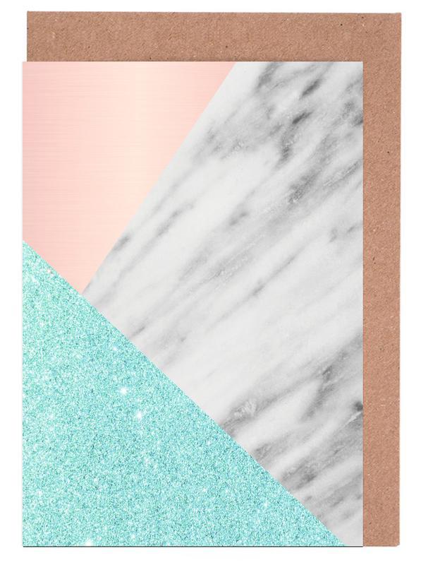, Spring Marble Collage cartes de vœux