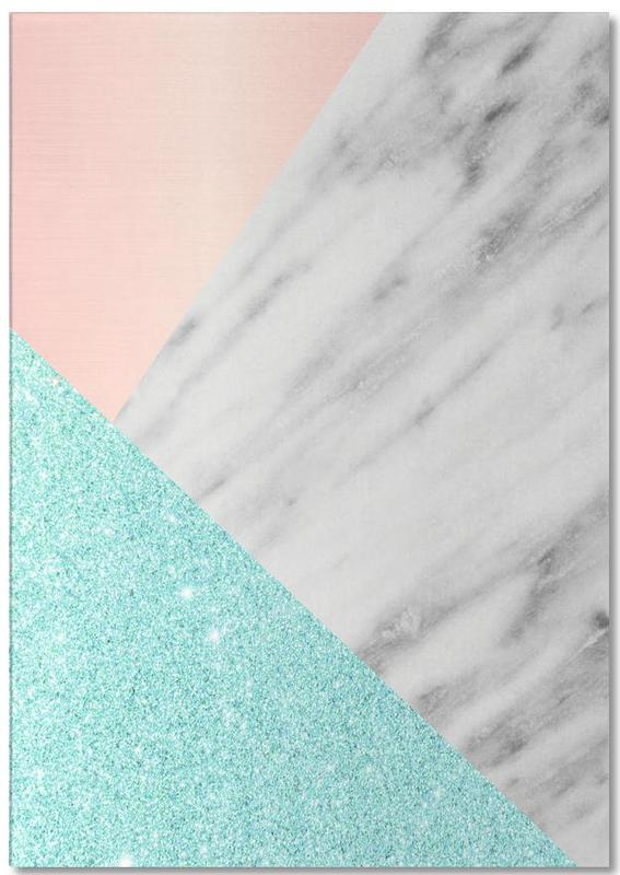 Spring Marble Collage Notepad