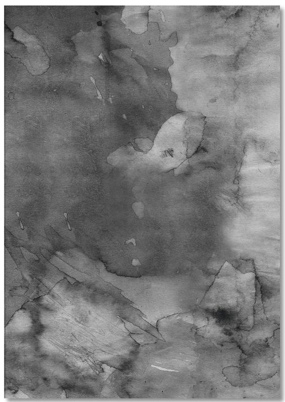 Zwart en wit, Dark Watercolor notitieblok