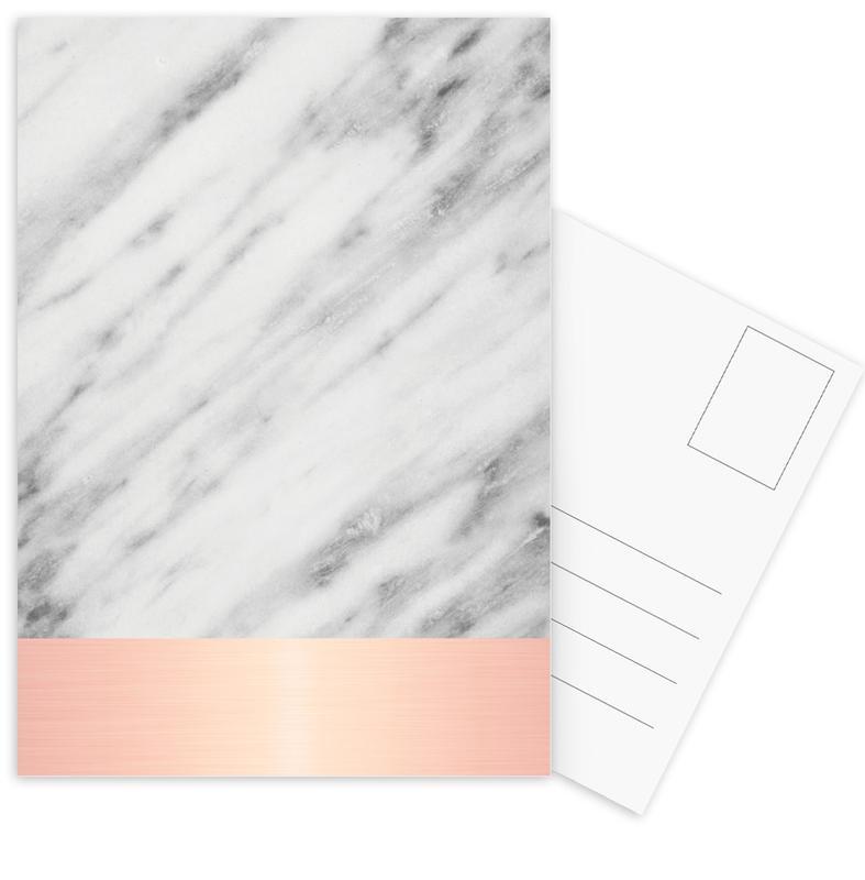 Carrara Marble Pink Edition Postcard Set