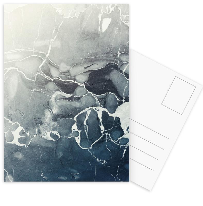 Blue Sea Marble Postcard Set