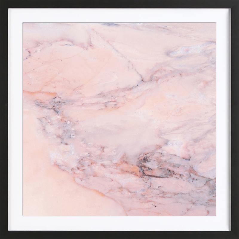 Blush Marble affiche sous cadre en bois