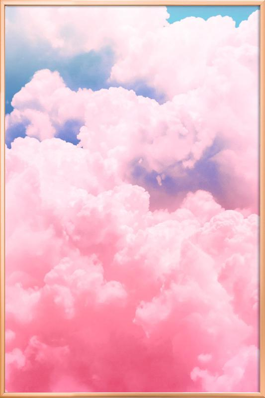 Candy Sky affiche sous cadre en aluminium