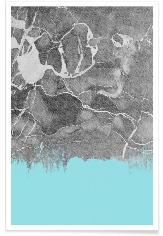 , Crayon Marble and Sea Prints poster