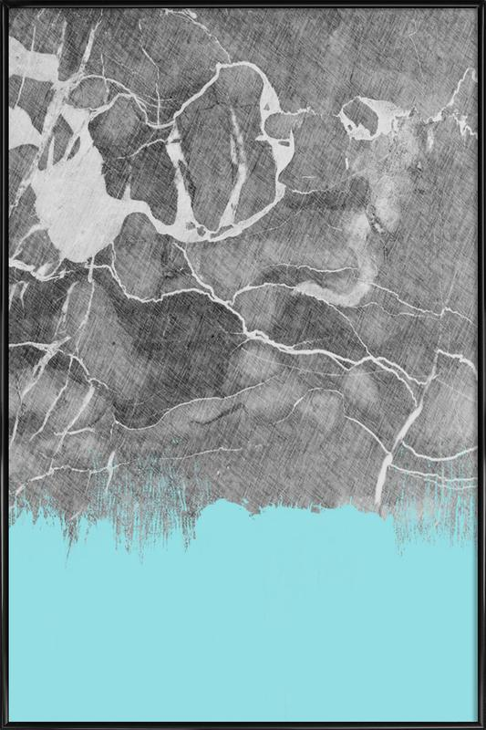 Crayon Marble and Sea Prints ingelijste poster