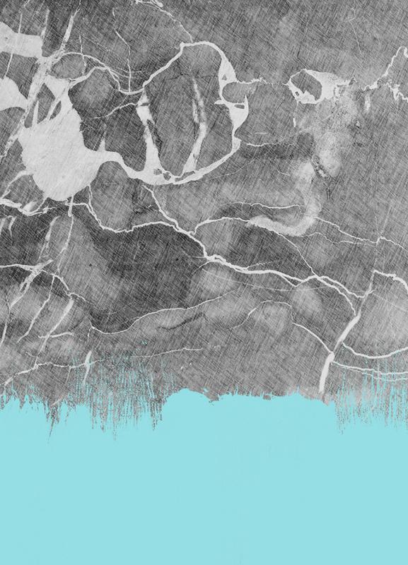 Crayon Marble and Sea Prints canvas doek