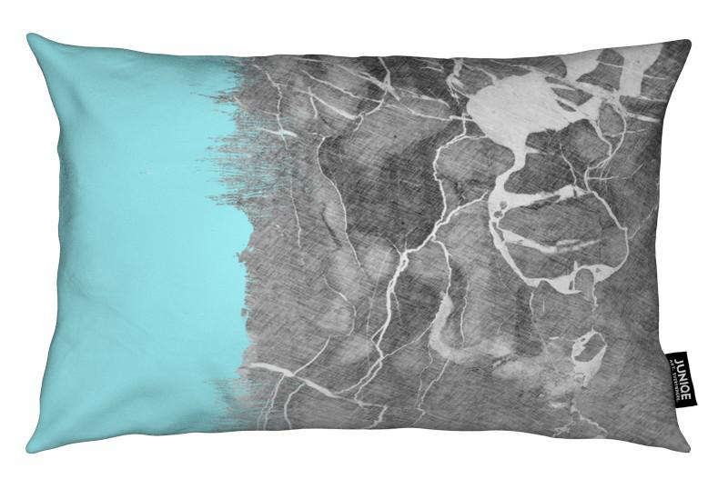 Crayon Marble and Sea Prints coussin