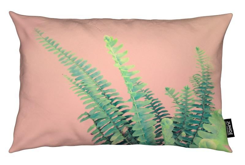 Ferns on Blush Prints coussin