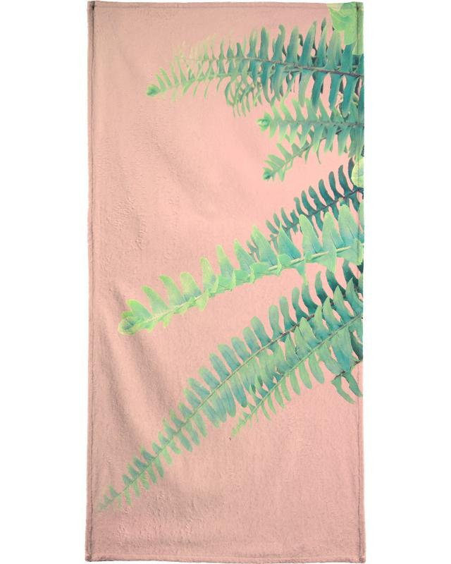 Ferns on Blush Prints serviette de bain