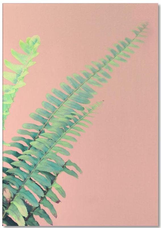 Ferns on Blush Prints bloc-notes