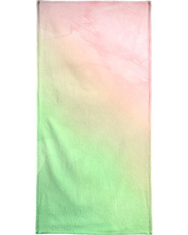 Greenely and Rose Quartz Prints serviette de bain