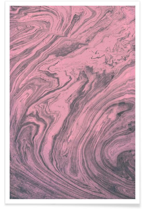 , Pink Marbled Texture poster