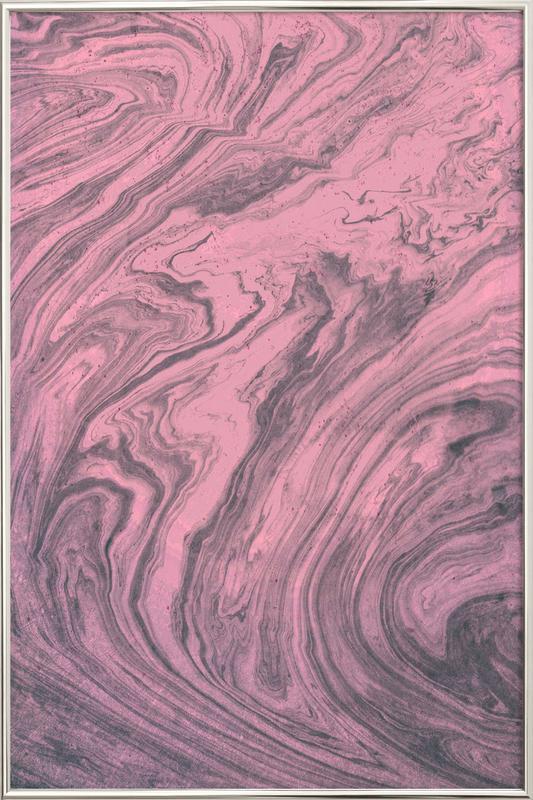 Pink Marbled Texture affiche sous cadre en aluminium