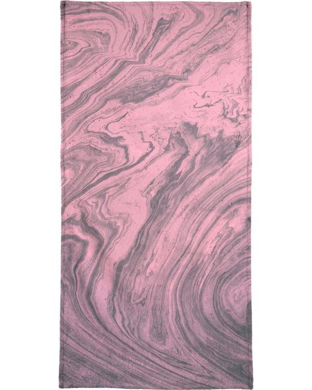 Pink Marbled Texture serviette de bain