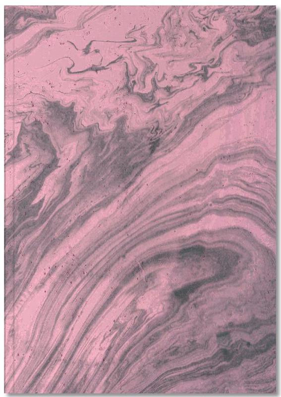 Pink Marbled Texture Notebook