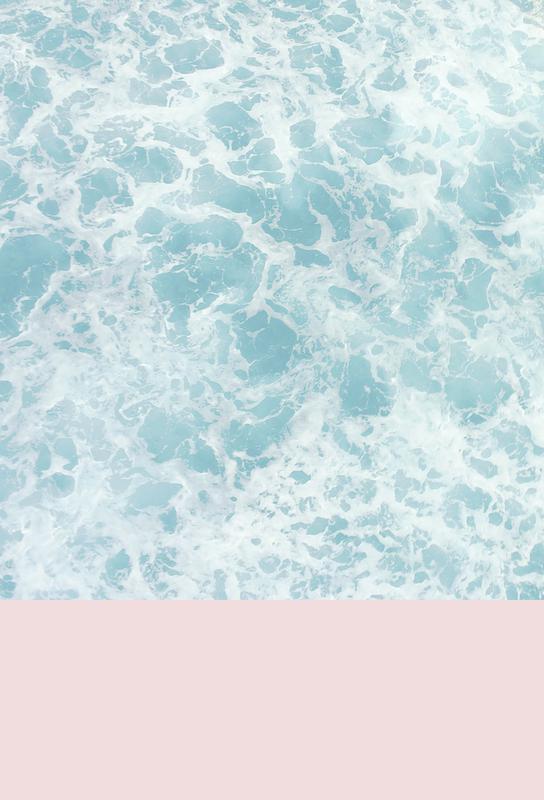Pink on the Sea acrylglas print