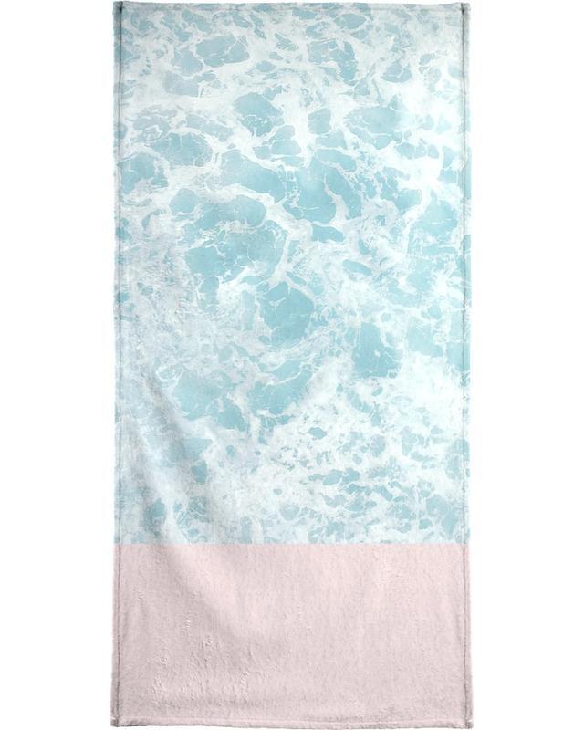 Pink on the Sea serviette de plage
