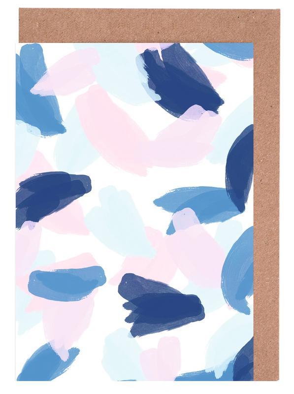 Blue and Pink Paint -Grußkarten-Set