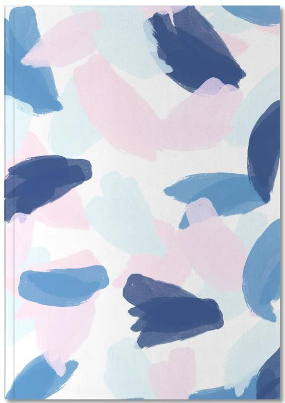 Blue and Pink Paint Notebook