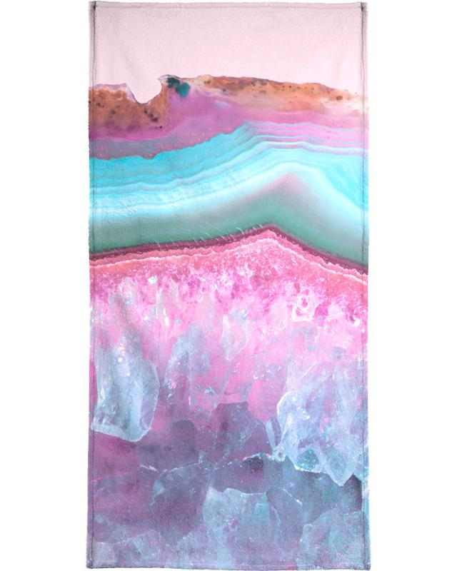 Rose Quartz and Serenity Agate Beach Towel