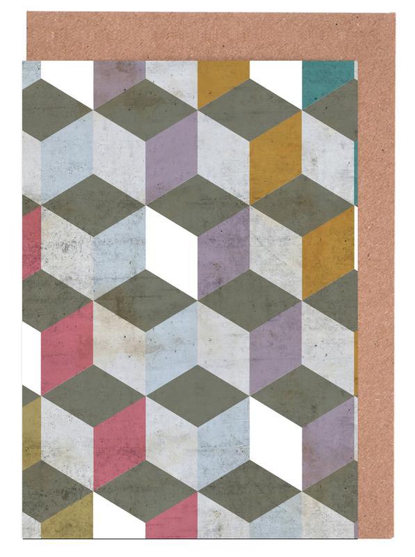 Geometric Greeting Card Set