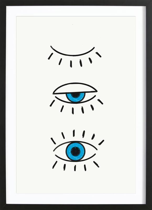 Summer Evil Eye ingelijste print