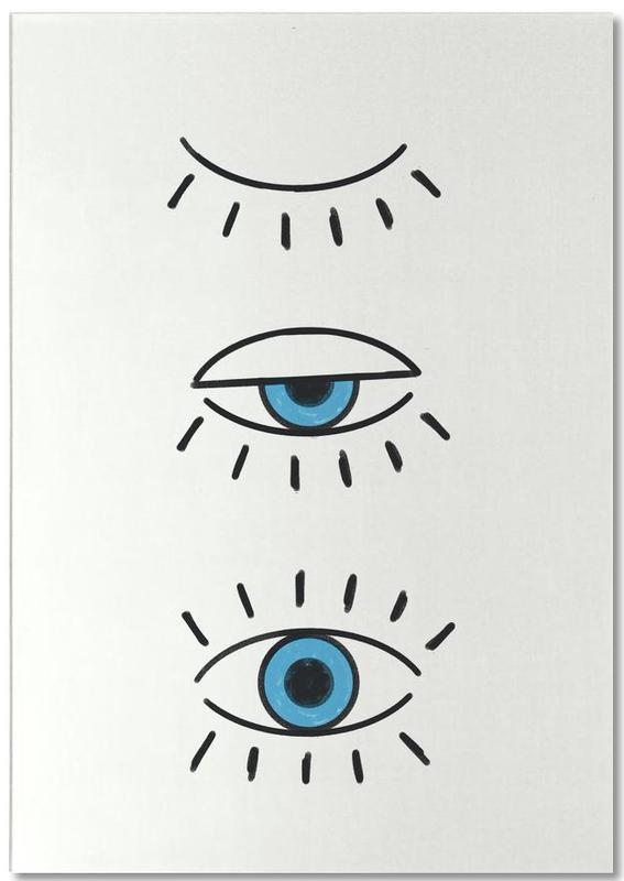 Symbole, Glückwünsche, Summer Evil Eye -Notizblock