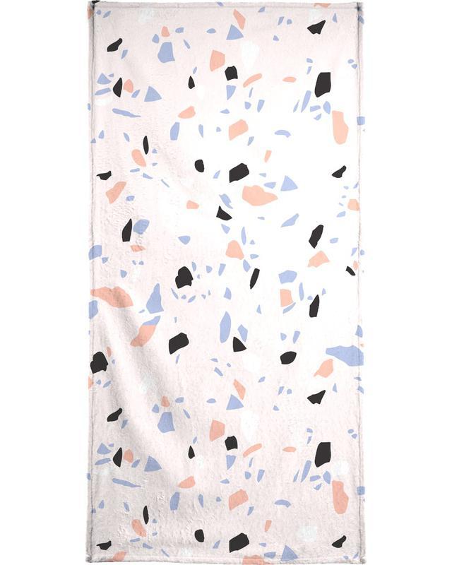 Sweet Terrazzo Texture Bath Towel