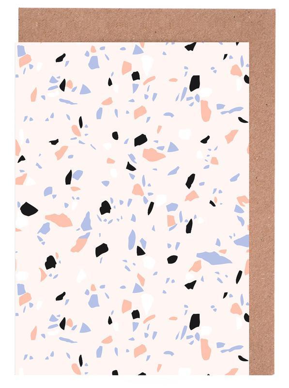 Sweet Terrazzo Texture -Grußkarten-Set