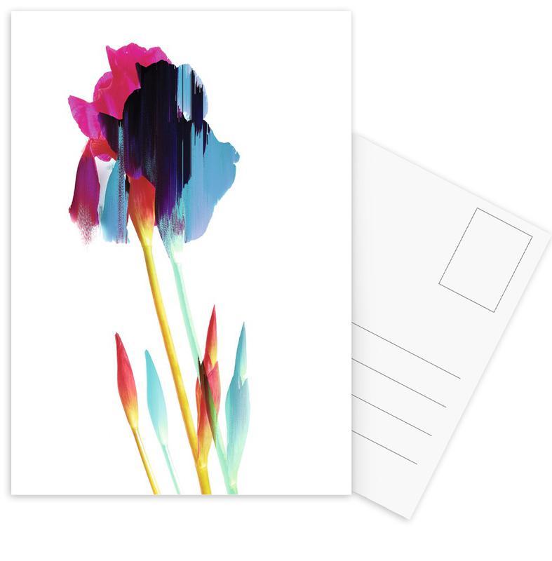 Glitched Iris -Postkartenset