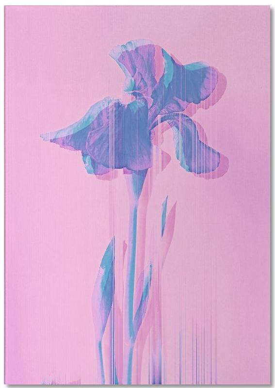Glitcherd Iris on Pink -Notizblock