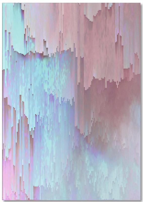 Pastel Glitches Fall -Notizblock