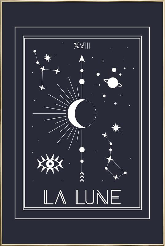 The Moon -Poster im Alurahmen