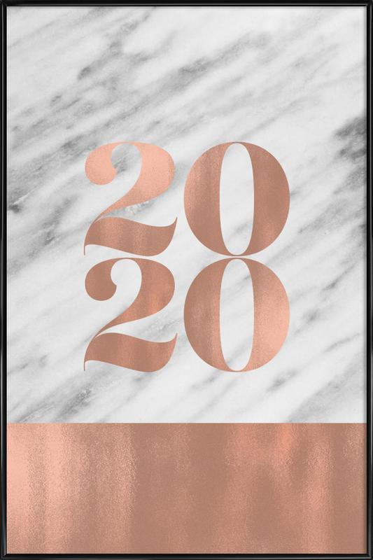 2020 Marble Edition -Bild mit Kunststoffrahmen
