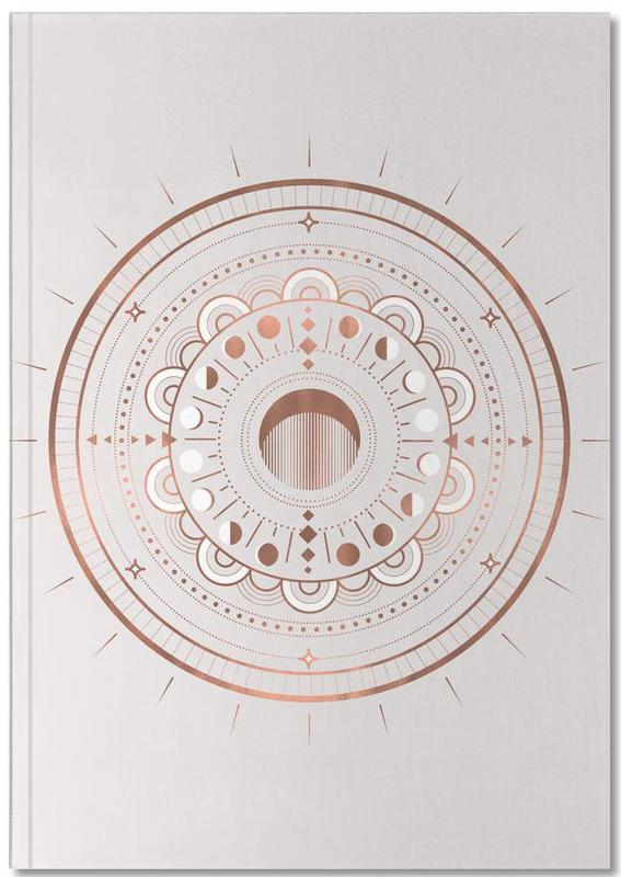Moon Mandala Rosé Notebook