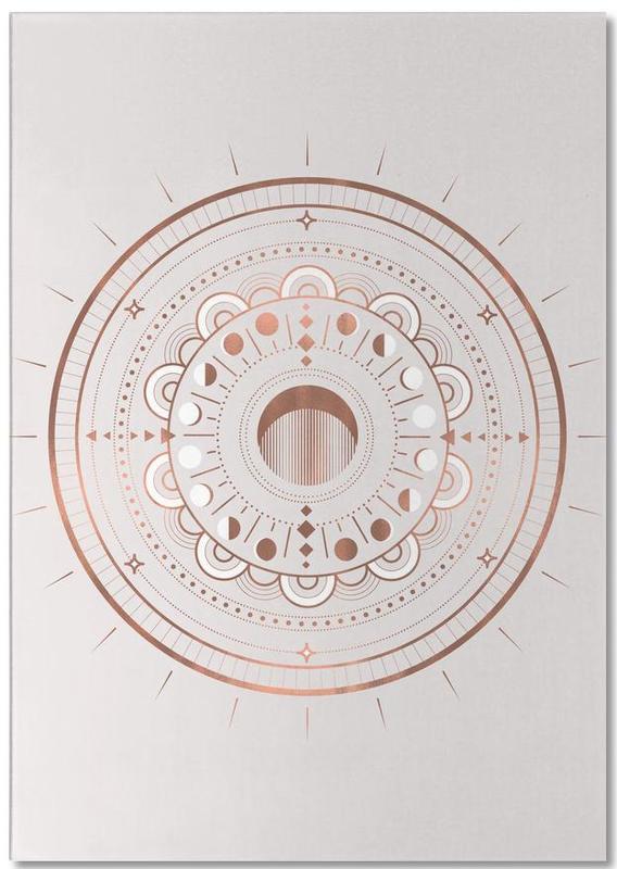 , Moon Mandala Rosé -Notizblock
