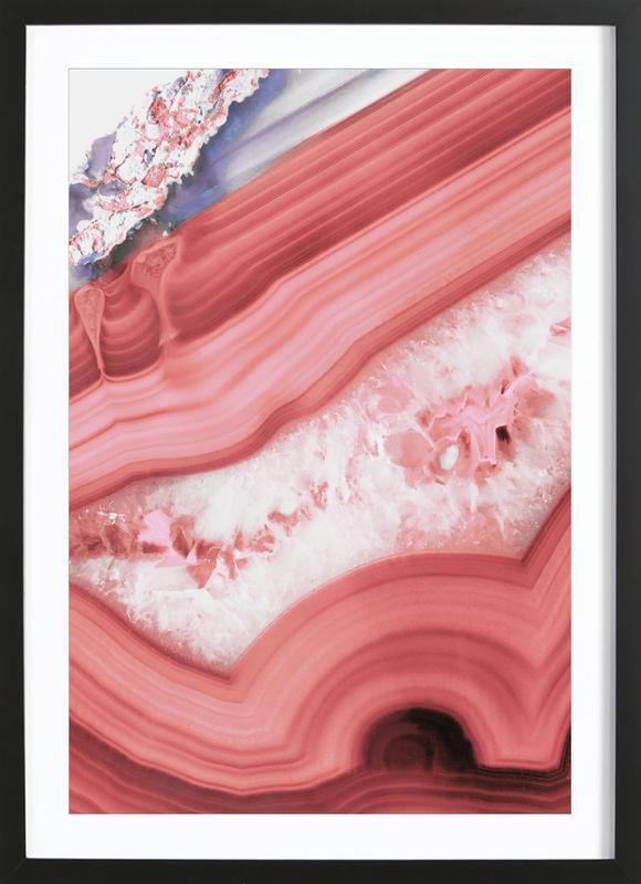 Agate Living Coral ingelijste print