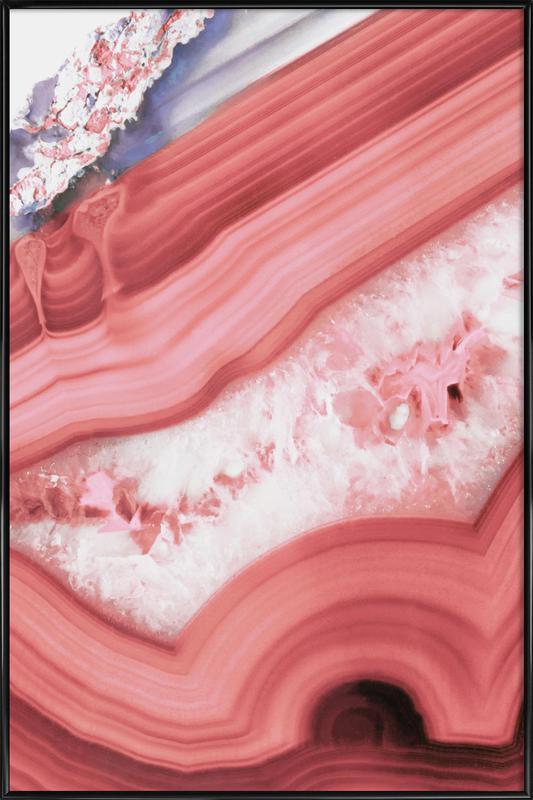 Agate Living Coral -Bild mit Kunststoffrahmen