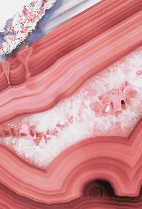 Agate Living Coral acrylglas print