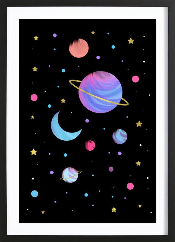 Great Universe -Bild mit Holzrahmen