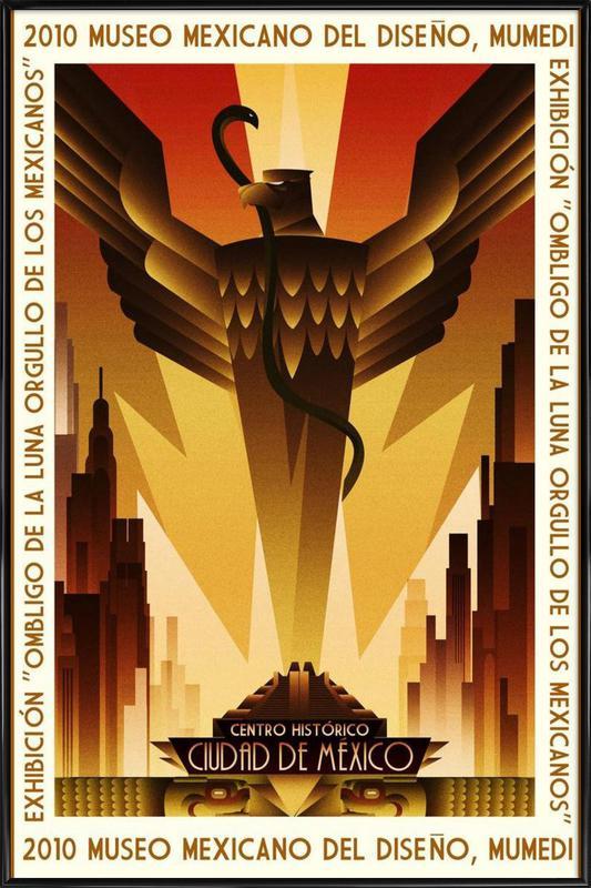 Mexico Art Deco ingelijste poster