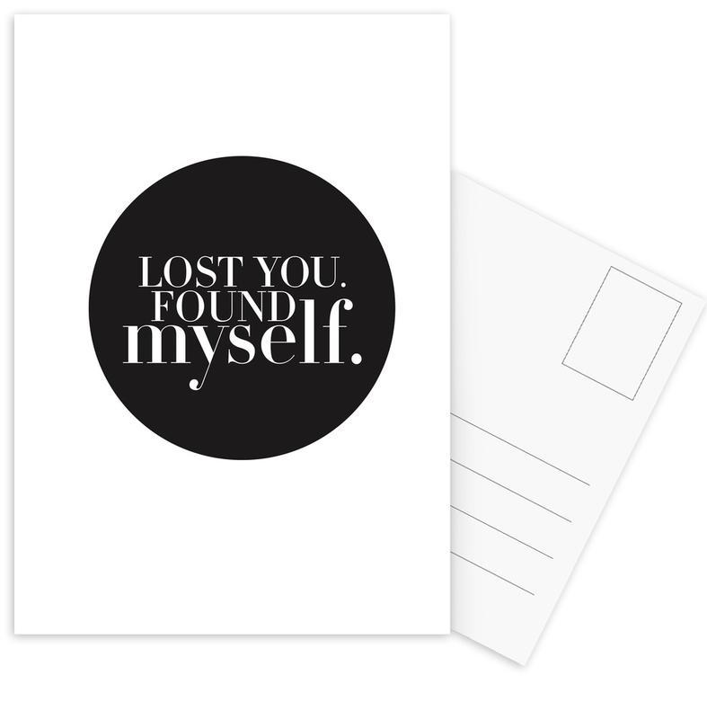 Noir & blanc, Citations et slogans, Lost you cartes postales