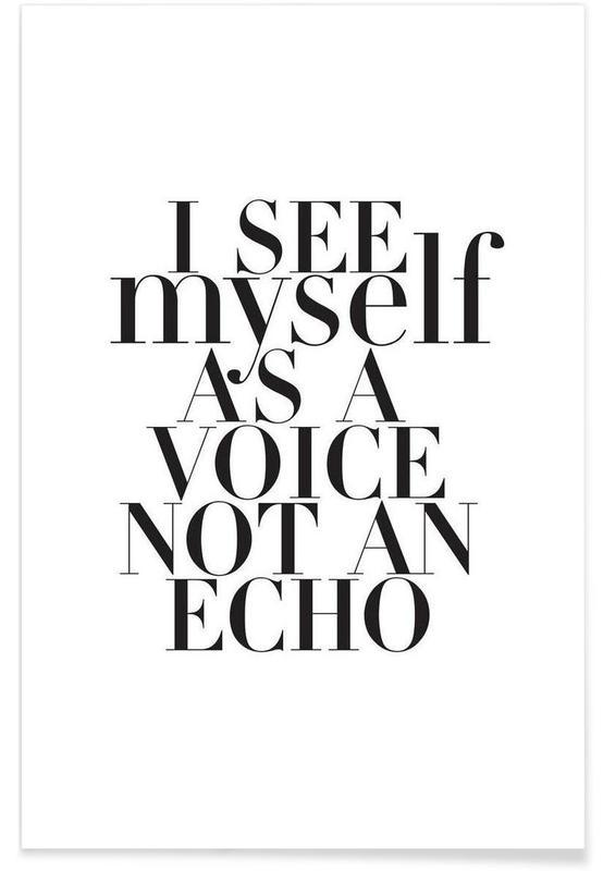 Noir & blanc, Citations et slogans, Echo affiche