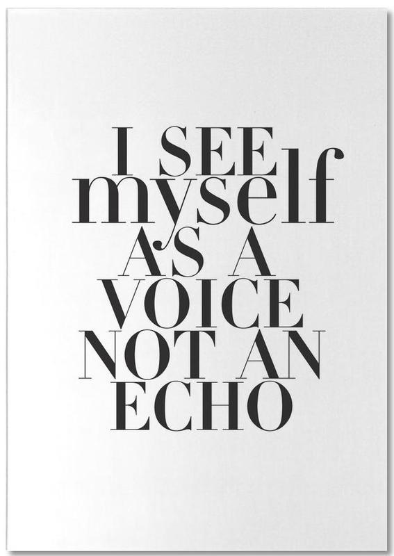 Noir & blanc, Citations et slogans, Echo bloc-notes