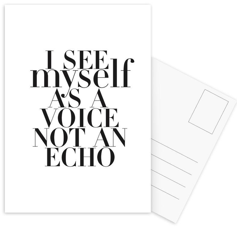 Noir & blanc, Citations et slogans, Echo cartes postales