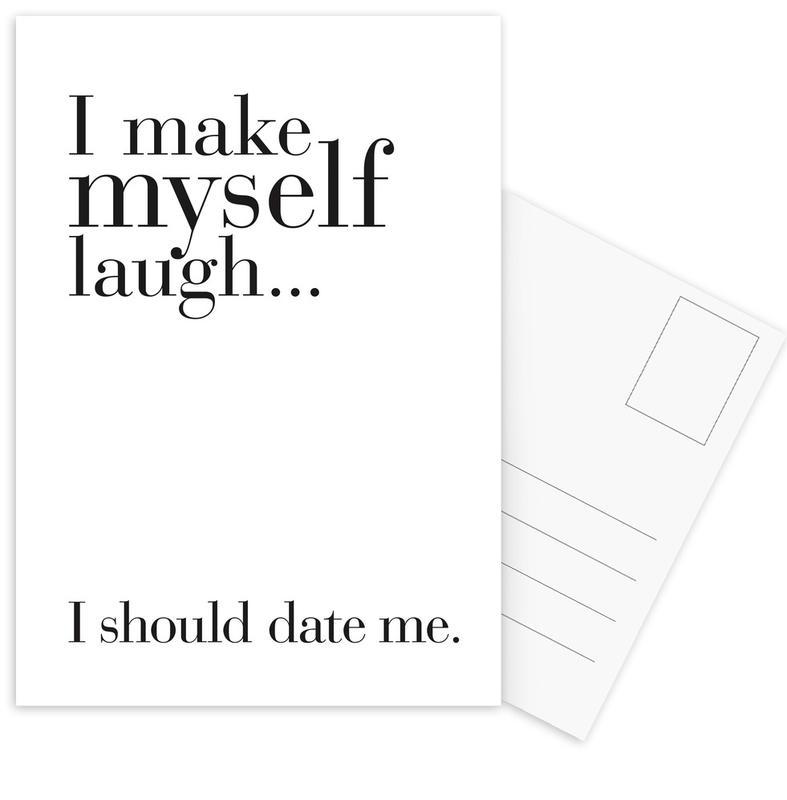 Noir & blanc, Citations et slogans, Date me cartes postales