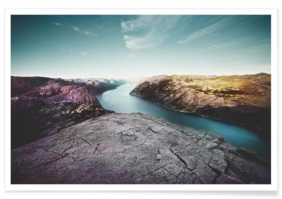 Montagnes, Lysefjord affiche