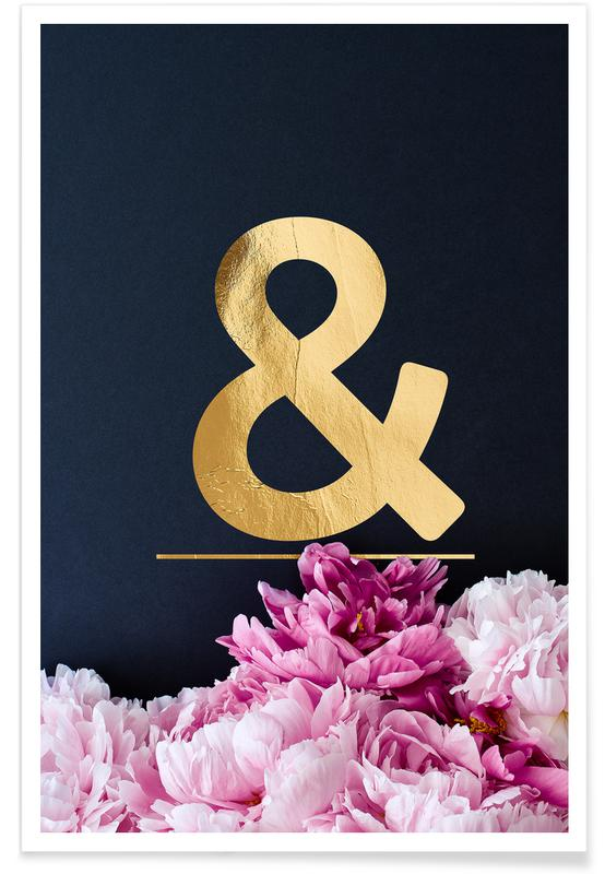 Flower Alphabet & -Poster